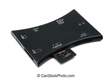Cardreader - The device for reading of flash cards isolated...