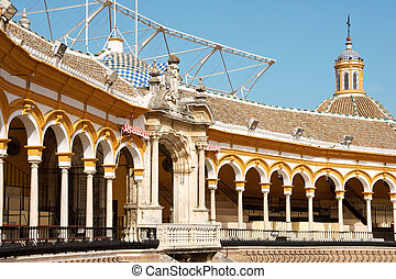 Plaza de toros de la Real Maestranza in Seville - Detail of...