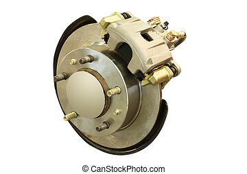 car brake gear - The image of isolated car brake gear