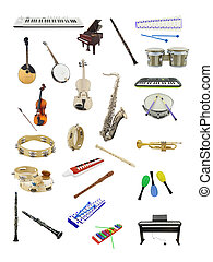 music instruments - The image of music instruments under the...