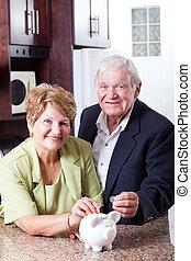 Pensionierung, Spareinlagen