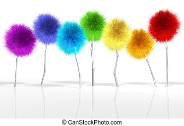 Fantasy Dandelion Trees Spectrum - A small crop of fantasy...