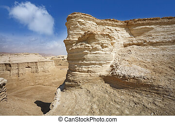 The desert near the Dead Sea - Natural canyons, bluffs and...