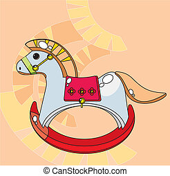 rocking horse - Children's picture - a rocking horse.