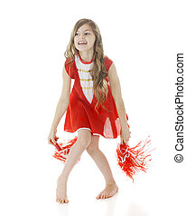 Elementary Cheer - A pretty elementary girl cheerleading in...