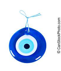 Traditional Turkish Amulet Evil Eye on white background