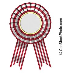 Ribbon award on a white background