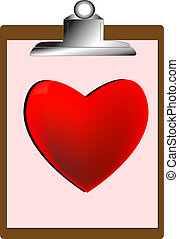 Heart on Clip Board
