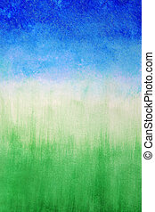 Sky and grass ,watercolor abstract background