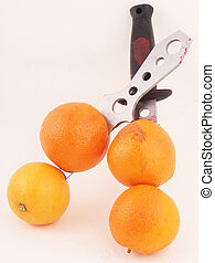 oranges - Oranges with two knives