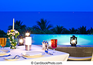 Romantic dinner for Valentine Day - Romantic dinner on the...