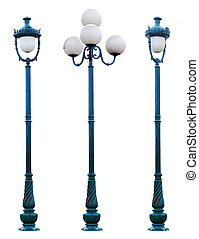 Isolated Antique Lamp Post Lamppost Street Road Light Pole