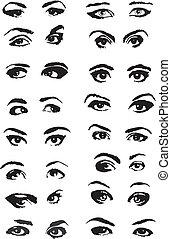 Female Eyes Set