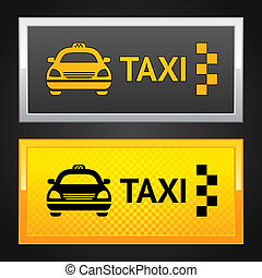 Taxi cab set label