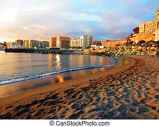 Genova, Italy - Beach in Genova