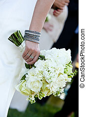 Bridal bouquet and bracelet