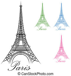 Paris Eiffel Tower Icon - An image of a Paris Eiffel Tower...