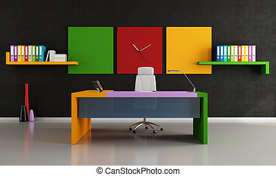 Colorful modern office