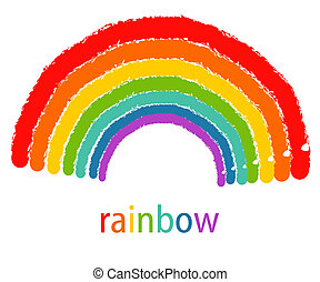 Rainbow - Drawing of rainbow. Vector illustration