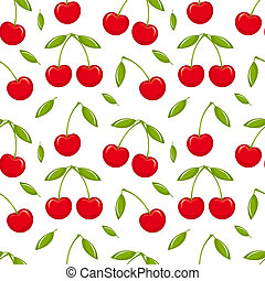 Cherry seamless - Cherries - seamless vector pattern