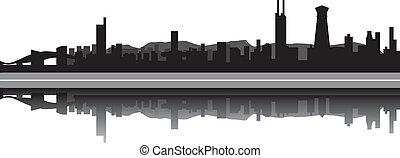 Shenzen china skyline