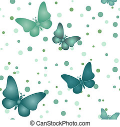 Seamless blue grey butterfly pattern