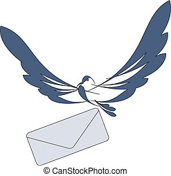message for you - nice dove with mail