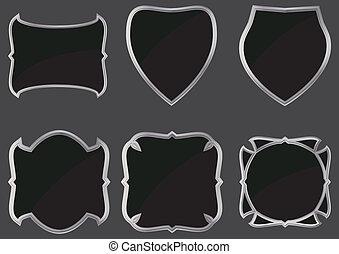 set of metal frames