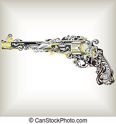 Abstract Gun - Illustration of abstract design gun.