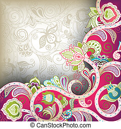 Floral Abstract - Illustration of abstract floral background...