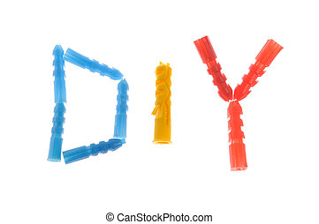 Do It Yourself abbreviation made of dowels