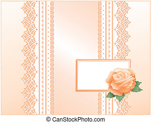 Lace, Satin, Heritage Rose, Card - Victorian style present...