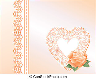 Lace Heart, Satin, Heritage Rose - Victorian style present...