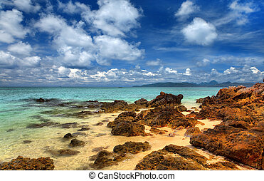 Sea landscape with clouds, Thailand