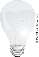 Light bulb - Transparent with a filament lamp Vector...