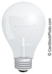 Light bulb - Transparent with a filament lamp. Vector...