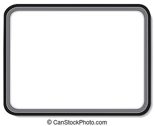 Whiteboard with Copy Space - Blank whiteboard with black...