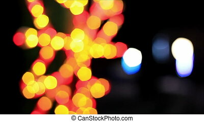 Colorful lights out of focus 4
