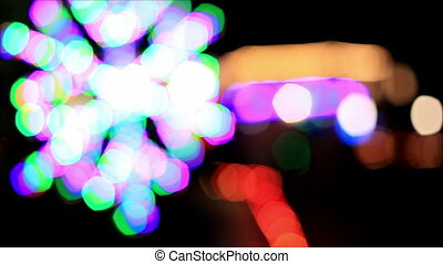 Colorful lights out of focus 3