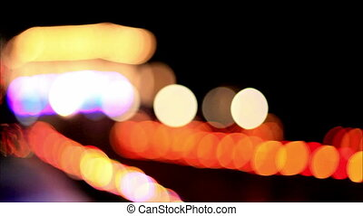 Colorful lights out of focus 2