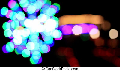Colorful lights out of focus 1
