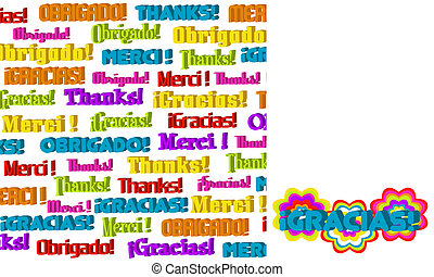 3D International Thanks Graphic