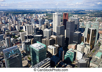 Toronto Canada - Office buildings in Toronto from above