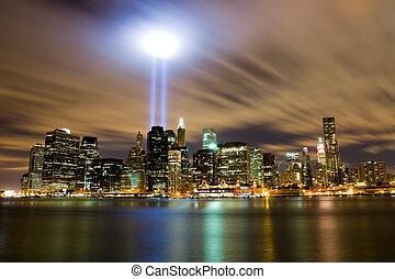 New York City - 911 Light Memorial in New York City