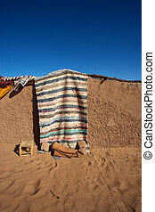 Traditional berber mud house - Tradional Berber house with...