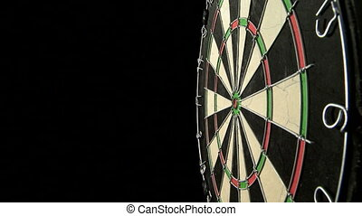 Three darts including bulls eye - Three darts hit a...