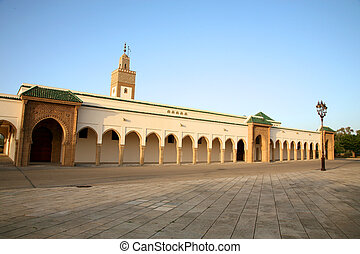 Moroccan Palace in Rabat - Entrance of the Palace of Mohamed...