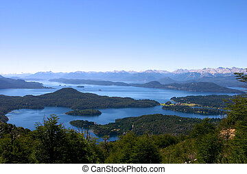 Near San Carlos de Bariloche, Argentina - Panoramic View on...