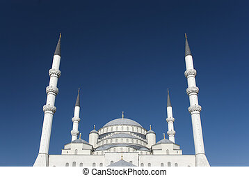 Kocatepe Mosque is a landmark of Ankara, Turkey