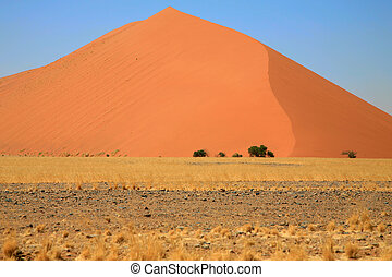 Sossusvlei dunes - Huge sand dune in Sossusvlei area, in the...